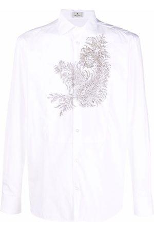 Etro Paisley-embroidery cotton shirt