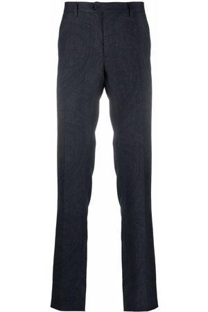 Etro Slim-fit paisley-print trousers