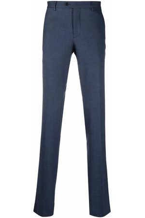 Etro Men Formal Pants - Pressed crease wool-blend trousers