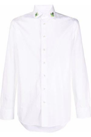 Etro Men Shirts - Four leaf clover collar shirt