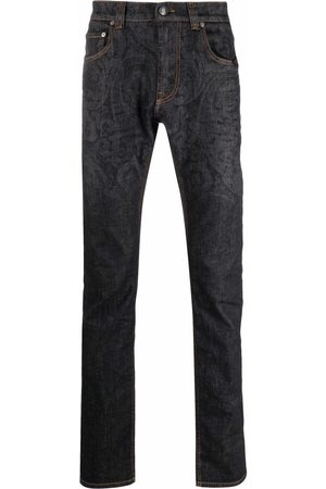 Etro Paisley-print straight leg jeans
