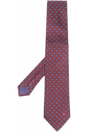 ETRO Embroidered-floral silk tie