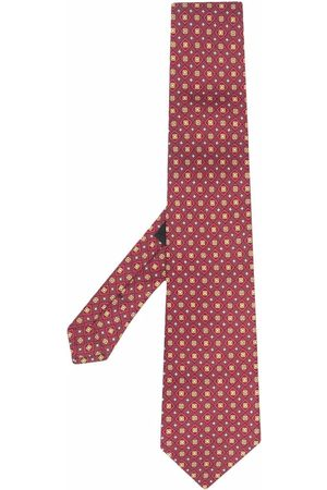 Etro Men Bow Ties - Geometric-print silk tie