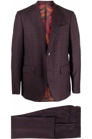 Etro Men Suits - Check pattern single-breasted suit