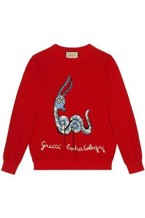 Gucci X Freya Hartas embroidered jumper