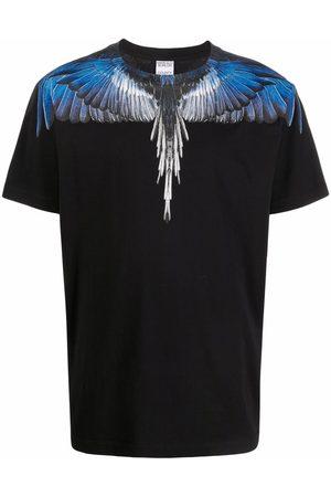 MARCELO BURLON WINGS REGULAR T-SHIRT BLUE