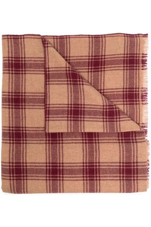 Isabel Marant Wool-blend checked scarf - Neutrals