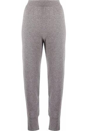 Alberta Ferretti High-rise knitted sweatpants - Grey