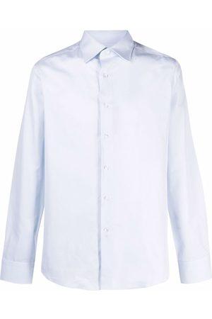 CANALI Two-tone longsleeved cotton shirt