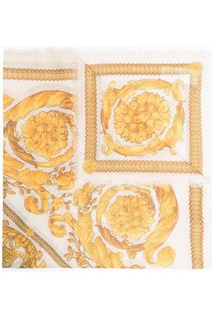 Versace Barocco-print scarf - Neutrals