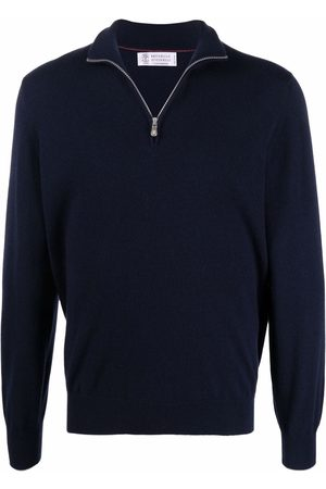 Brunello Cucinelli Zip-front cashmere sweater
