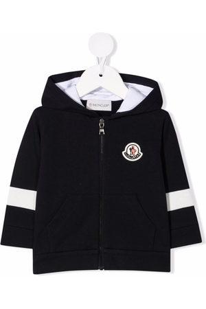 Moncler Bomber Jackets - Logo-patch hooded jacket