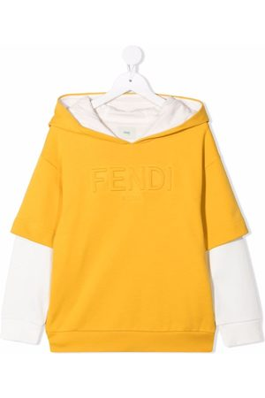 Fendi Logo-embossed hoodie