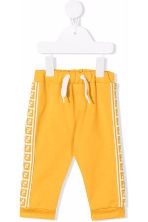 Fendi Kids Sports Pants - FF-stripe trackpants