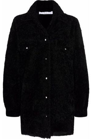 IRO Women Long sleeves - Long-sleeve shearling coat