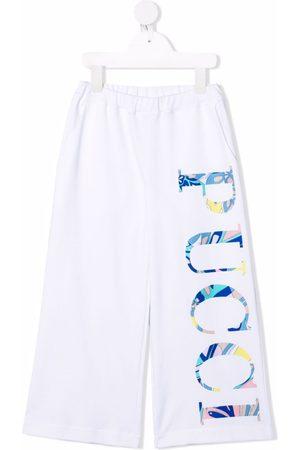 Emilio Pucci Logo-print leg trousers