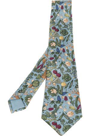 Hermès Hermès Powder Vegetable Print Silk Tie