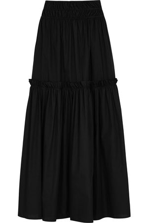 ROSETTA GETTY Ruffled cotton maxi skirt