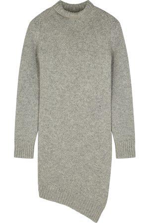 Jil Sander Grey asymmetric wool jumper