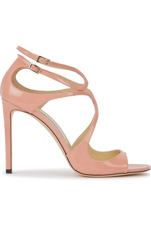 Jimmy Choo Lang 105 blush cut-out leather sandals