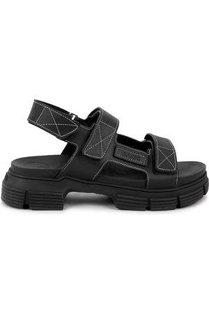 Ganni 40 rubberised sandals