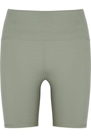 Varley Dina sage stretch-jersey shorts