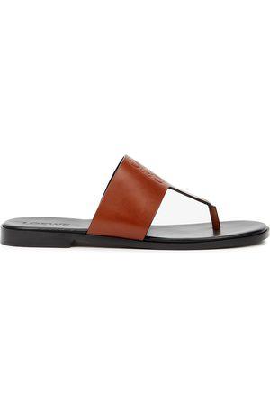 Loewe X Paula's Ibiza logo leather thong sandals