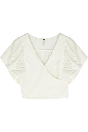 Free People Can't Get Enough ivory linen-blend top