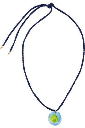 SANDRALEXANDRA Sea Urchin navy silk cord necklace