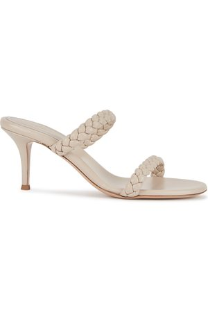 Gianvito Rossi Marley stone leather sandals