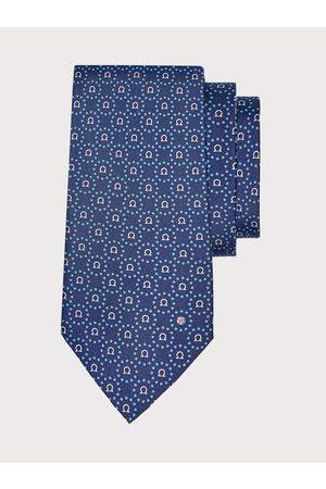 Salvatore Ferragamo Men Nations print silk tie