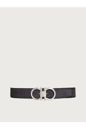 Salvatore Ferragamo Men Belts - Men Adjustable Gancini belt Grey
