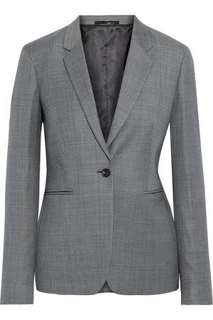 PAUL SMITH Woman Checked Wool Blazer Size 38