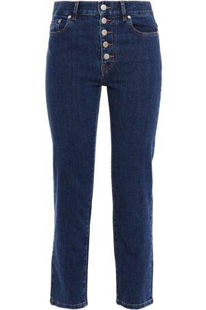 Joseph Woman Cropped High-rise Straight-leg Jeans Dark Denim Size 26