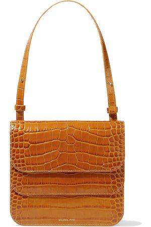 REJINA PYO Women Wallets - Woman Ana Croc-effect Leather Shoulder Bag Tan Size
