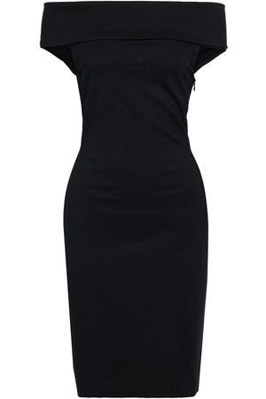 ROSETTA GETTY Women Strapless Dresses - Woman Off-the-shoulder Stretch-ponte Mini Dress Size M