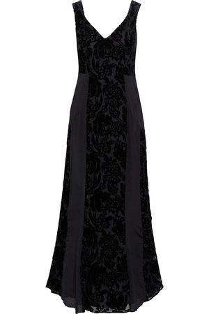 MYLA Woman De Beauvoir Devoré-velvet And Silk Crepe De Chine Night Dress Size M