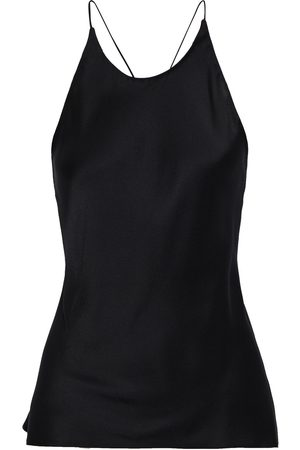 ROSETTA GETTY Woman Satin-crepe Halterneck Camisole Size 4
