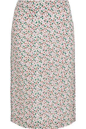 MARNI Woman Printed Cloqué Skirt Ivory Size 36