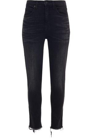 NILI LOTAN Woman Frayed High-rise Skinny Jeans Size 24