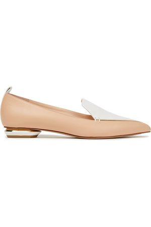 NICHOLAS KIRKWOOD Woman Beya Two-tone Leather Loafers Size 40