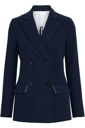 ROSETTA GETTY Woman Double-breasted Cotton-blend Blazer Navy Size 4