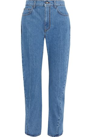 MARNI Woman High-rise Tapered Jeans Mid Denim Size 38