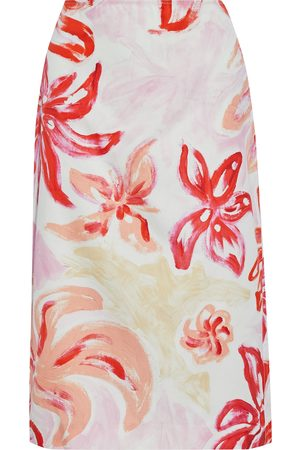 Marni Woman Printed Cotton And Silk-blend Poplin Skirt Size 38