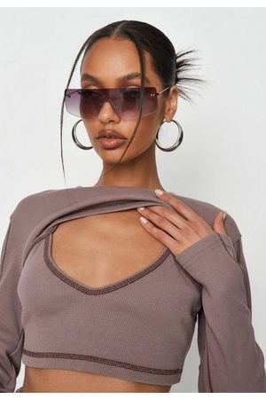 Missguided Women Bras - Contrast Stitch Crop Bralette