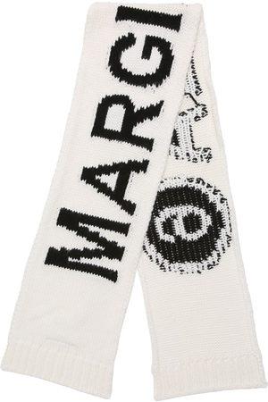 MM6 MAISON MARGIELA Jacquard Logo Wool Blend Scarf