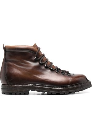 Officine creative Men Ankle Boots - Brushed lace-up ankle boots