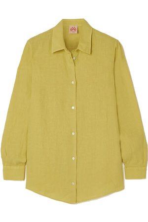 Le Sirenuse Positano Lightwind Sparrow linen shirt