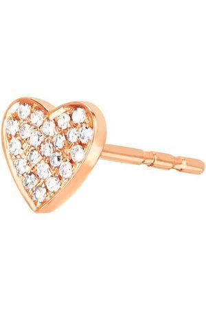 EF Collection 14kt Diamond Single Heart Stud Earring