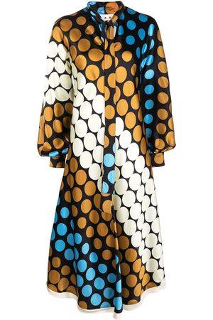 Marni Long-sleeve polka-dot dress